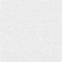 Bernice White Geometric Wallpaper
