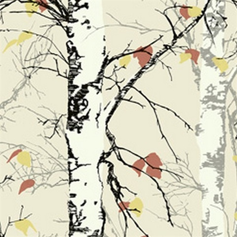 Birch Trees with Leaves
