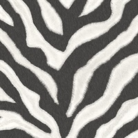 Black and White Zebra Print Wallpaper
