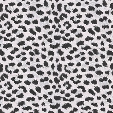 Black white animal print