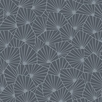 Blomma Charcoal Geometric Wallpaper