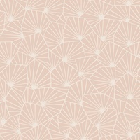 Blomma Apricot Geometric Wallpaper