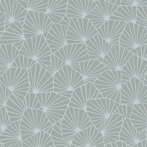 Blomma Sage Geometric Wallpaper