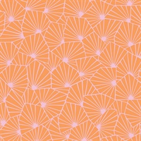 Blomma Orange Geometric Wallpaper