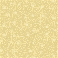 Blomma Yellow Geometric Wallpaper