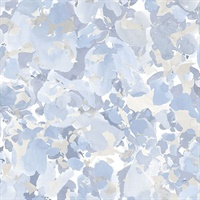 Bloom Wallpaper in Blue, Beige & Greys
