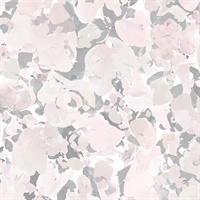 Bloom Wallpaper in Pink & Grey
