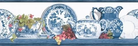 Blue Willow Wallpaper Border