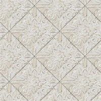 Brandi Grey Tin Tile Wallpaper