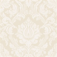 Briar Beige Damask Wallpaper