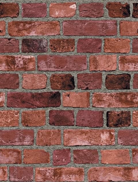 Brick Wall Covering : Wallpaper brick design grasscloth