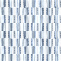 Burgen Blue Geometric Linen Wallpaper