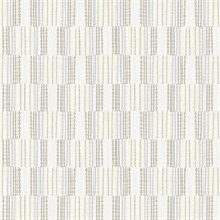 Burgen Grey Geometric Linen Wallpaper