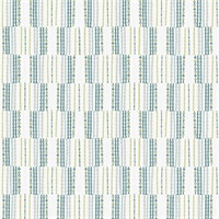 Burgen Teal Geometric Linen Wallpaper