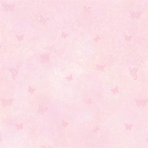 Tot47252 pink butterfly column textured wallpaper for Kids room wallpaper texture