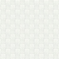 Calabash Light Grey Rope Basketweave Wallpaper