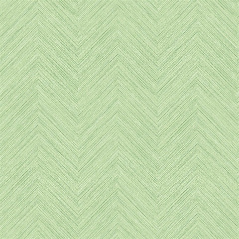 Caladesi Green Faux Linen Wallpaper