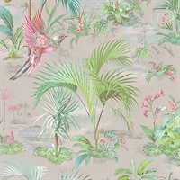 Calliope Grey Palm Scenes Wallpaper
