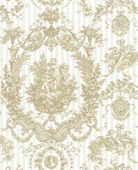 Cameo Toile Wallpaper