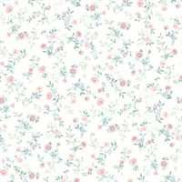 Catlett Light Pink  Floral Toss Wallpaper