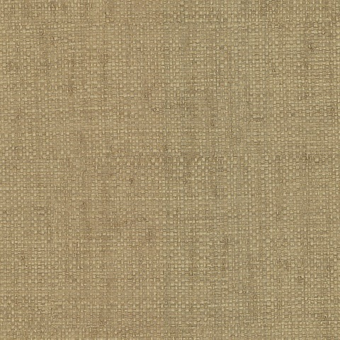 Caviar Khaki Basketweave Wallpaper