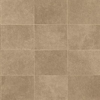 Cecelia Bronze Faux Tile Wallpaper