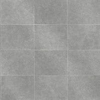 Cecelia Dark Grey Faux Tile Wallpaper