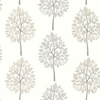 Ceres Grey Tree Wallpaper