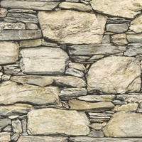 Cesar Beige Stone Wall Wallpaper