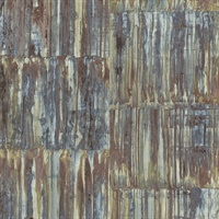 Chavez Multicolor Faux Metal Panels Wallpaper