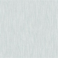 Chenille Light Blue Faux Linen Wallpaper