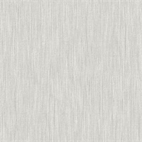 Chenille Light Grey Faux Linen Wallpaper