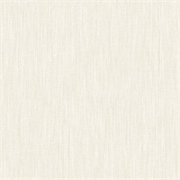 Chenille Off-White Faux Linen Wallpaper