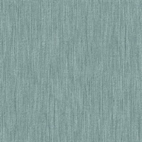 Chenille Teal Faux Linen Wallpaper