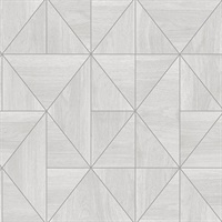 Cheverny Light Grey Wood Tile Wallpaper