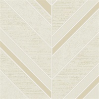 Punta Mita Cream Chevron Wallpaper