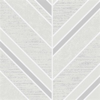 Punta Mita Ivory Chevron Wallpaper