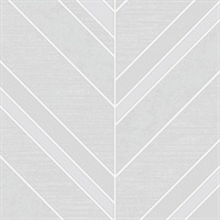 Punta Mita Grey Chevron Wallpaper
