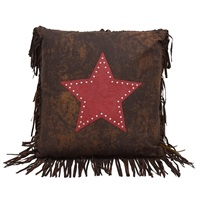 Cheyenne Red Tooled Leather with Star