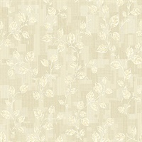 Child Cream Leaf Patchwork Wallpaper