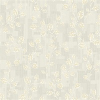 Child Grey Leaf Patchwork Wallpaper