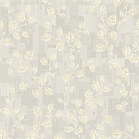 Child Light Grey Leaf Patchwork Wallpaper