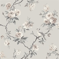 Chinoiserie Stone Floral Wallpaper