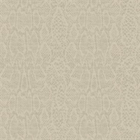 Circles Snakeskin Metallic Wallpaper