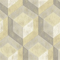 Clarabelle Beige Rustic Wood Tile Wallpaper