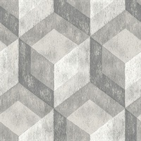 Clarabelle Grey Rustic Wood Tile Wallpaper
