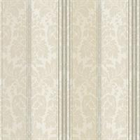 Clarence Striped Floral Damask