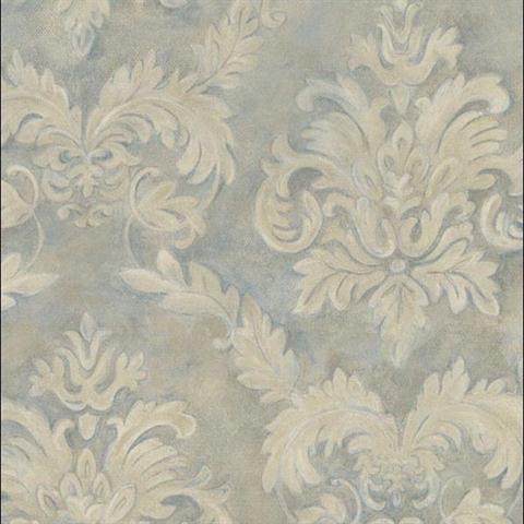 Seamless Wallpaper Damask Pattern Flower Background Stock Vector ...