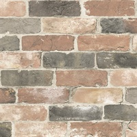 Cody Red Reclaimed Bricks Wallpaper