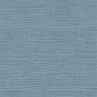 Colicchio Blue Linen Texture Wallpaper